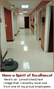 CleanGuidePro Janitorial Bidware - A proudly cleaned floor