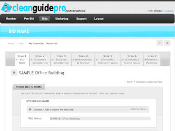 cleanguidepro online janitorial bidding pricing section screenshot enlarge